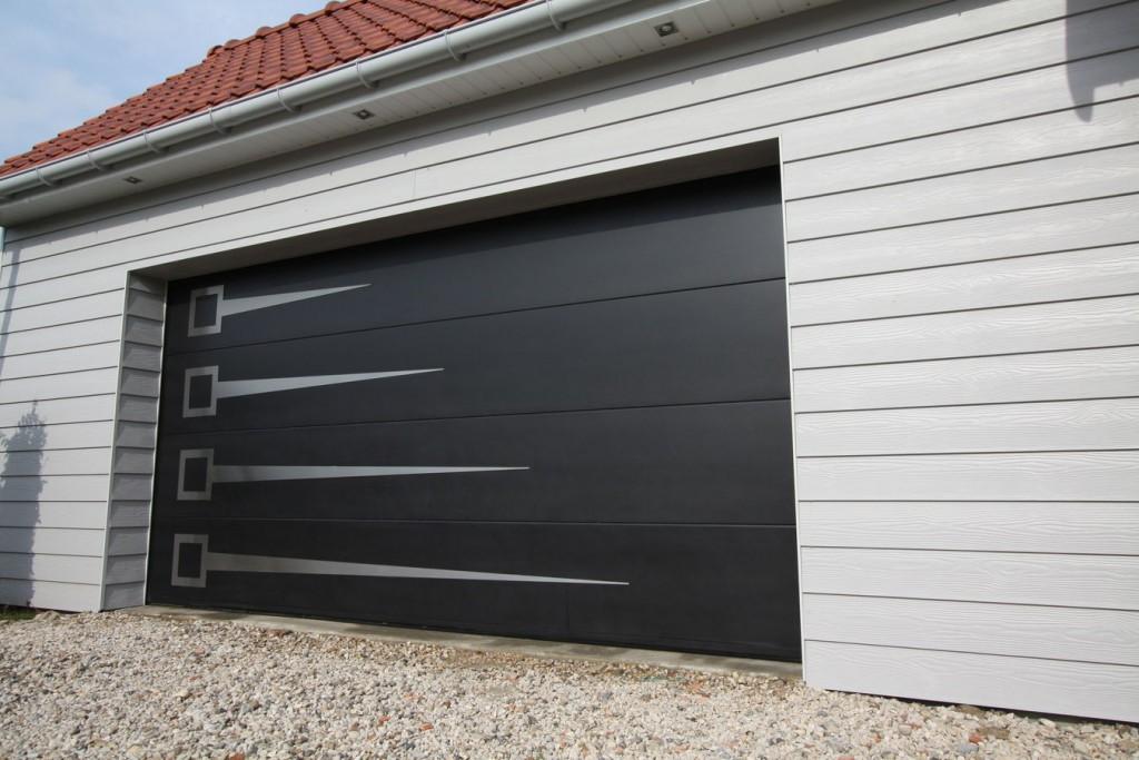 Porte De Garage Sectionnelles Enrouleables Bois Alu Pvc